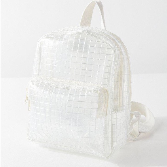 ceea4970d301 Urban Outfutters NWT Mini clear Grid Backpack